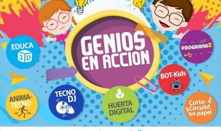 Genios en Acción presenta las producciones de #AnimaTecno