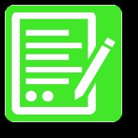 fondo verde con icono blanco
