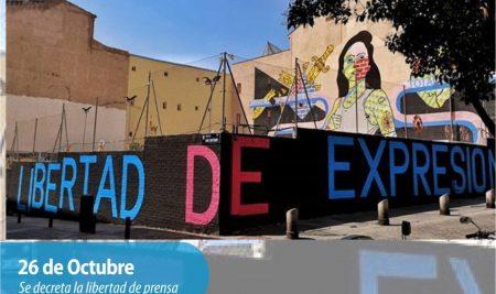 Efemérides CIIDEPT | 26 de Octubre: Se decreta la libertad de prensa